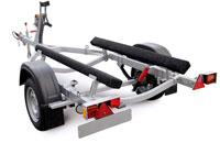Прицеп МЗСА 81771А.101 для перевозки гидроциклов и лодок на рессорной подвеске