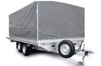 Прицеп МЗСА 832233.301 для коммерческих перевозок с алюминиевыми бортами на рессорной подвеске