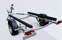 Прицеп МЗСА 81771D.101 для перевозки лодок и катеров на рессорной подвеске