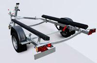 Прицеп МЗСА 81771Е.101 на рессорной подвеске для перевозки лодок и катеров