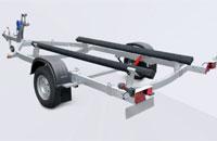 Прицеп МЗСА 81771G.021 для перевозки лодок и катеров на рессорной подвеске с повышенной грузоподъемностью