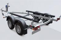 Прицеп МЗСА 81773G.011 для перевозки лодок и катеров на рессорной подвеске с повышенной грузоподъемностью