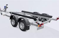 Прицеп МЗСА 81773G.021 для перевозки лодок и катеров на рессорной подвеске с повышенной грузоподъемностью