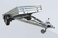 Прицеп МЗСА 831132.201 для перевозки снегоходов, квадроциклов и вездеходов и других грузов на рессорной подвеске