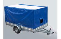 Прицеп МЗСА 831134.102 с тормозом для перевозки коммерческих грузов, 2 снегоходов, квадроциклов и другой техники
