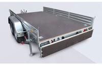 Прицеп МЗСА 832134.201 для перевозки мототехники и коммерческих перевозок на рессорной подвеске