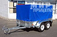 Прицеп МЗСА 817730.012 2-х осный с высоким тентом на 1200 кг