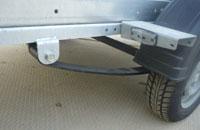 Прицеп АF34АВ на базовой и усиленной рессорной подвеске с удлинителем дышла или без удлинителя дышла со съемными боковыми и передними бортами