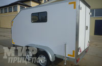 Европрицеп 7119А2-фургон с задними распашными воротами из облегченной сэндвич-панели 35 мм