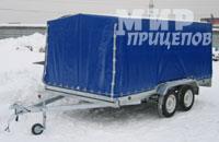 Прицеп ЛАВ 81013А, 2- осный прицеп, рессорная подвеска на 1200 кг
