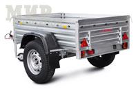 Прицеп МЗСА 817710.016 повышенной грузоподъемностью на 1300 кг, на 16 колесах