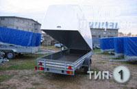 Прицеп МЗСА 817712.001-05 с пластиковой крышкой с рессорной подвеской