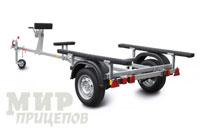 """Прицеп """"КОМПАКТ"""" для плоскодонных лодок, каяков и байдарок, модель МЗСА 81771С.012 на рессорной подвеске"""