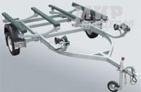 Прицеп МЗСА 81772В.001 для 2-х гидроциклов на резино-жгутовой подвеске