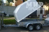 Прицеп МЗСА 817730.001 с высокой пластиковой крышкой на 1200 кг