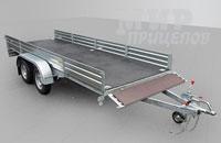 Прицеп МЗСА 817735.012 для перевозки грузов до 1000 кг на рессорной подвеске