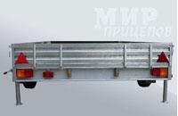 Прицеп МЗСА 832132.201 для перевозки мототехники и коммерческих перевозок на рессорной подвеске