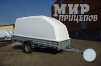 Прицеп МЗСА 817711.001 с пластиковой крышкой с резино-жгутовой подвеской или рессорной подвеской