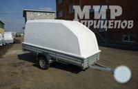 Прицеп МЗСА 817715.001 с пластиковой крышкой резино-жгутовая подвеска или рессорная подвеска