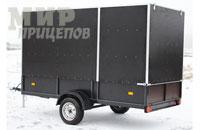 Прицеп-фургон фанерный на рессорной подвеске