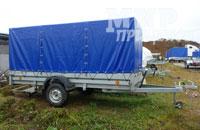 Прицеп Трейлер 829450 широкий 3500х1500 мм, рессорная подвеска, домкрат, лебедка в комплекте, опорное колесо