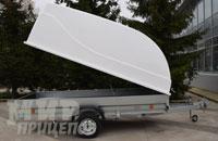 Прицеп Трейлер 829450 широкий 3500х1500 мм, рессорная подвеска с пластиковой крышкой